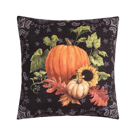 Chalk Pumpkin Pillow