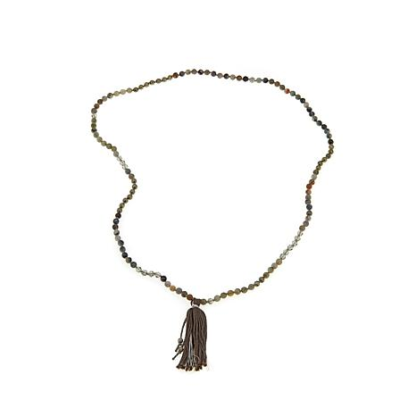 Chan Luu Labradorite and Mixed Stone Tassel Necklace