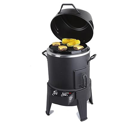 Char-Broil 3-in-1 Smoker, Roaster and Grill with Kebab Kit