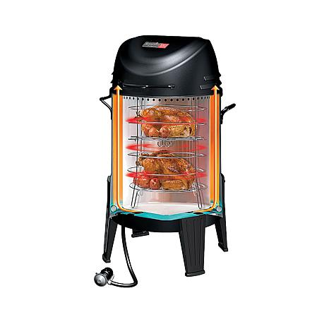 char broil tru infrared 3 in 1 roaster smoker and grill w rib hooks