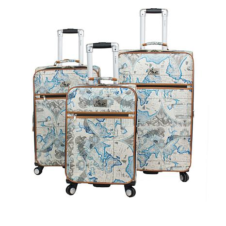 Chariot Map 3-piece Luggage Set