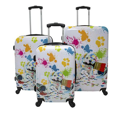 Chariot Paint Hardside 3-piece Luggage Set