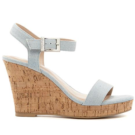 Charles By Charles David Lindy Denim Wedge Sandal bSSbn