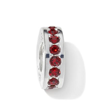 Charming Silver Inspirations Garnet-Color Slide Charm