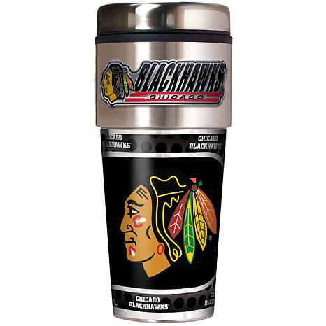 Chicago Blackhawks Travel Tumbler w/ Metallic Graphics and Team Logo