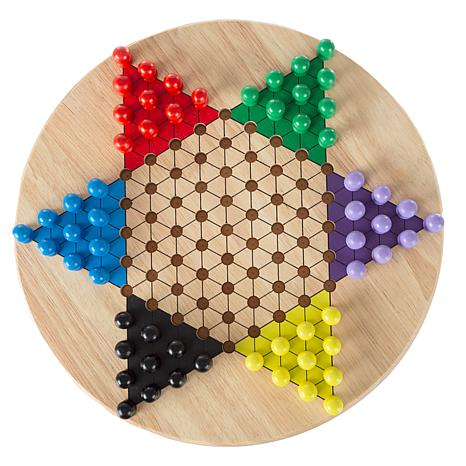 Chinese Checkers Game Set w/ 11 quot; Wooden Board   Traditional Pe...