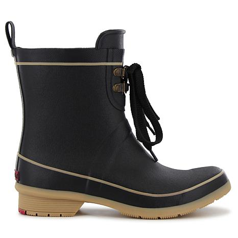 chooka® Whidbey Tie-Front Mid Rain Boot