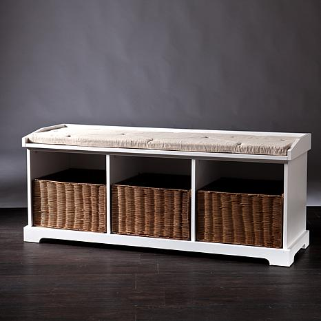 Clarendon Entryway Storage Bench White 8377725 Hsn