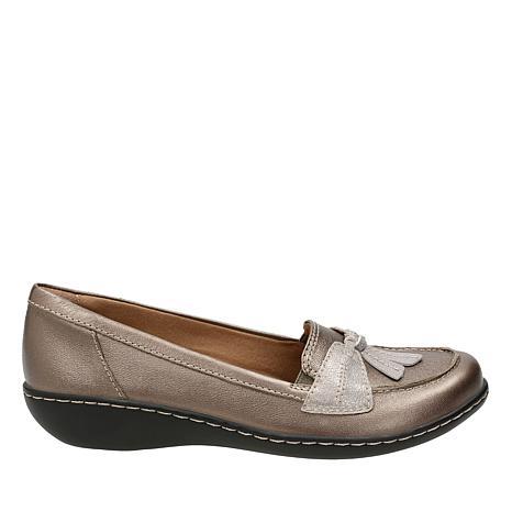 Clarks Ashland Bubble Leather Slip-On Loafer
