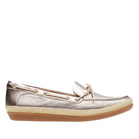 Clarks Danelly Bodie Leather Espadrille Boat Shoe