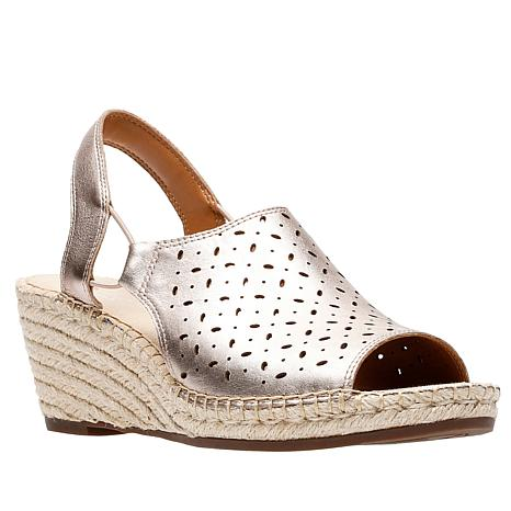 b5c1d367563 Clarks Petrina Gail Leather Wedge Espadrille Sandal - 8793006
