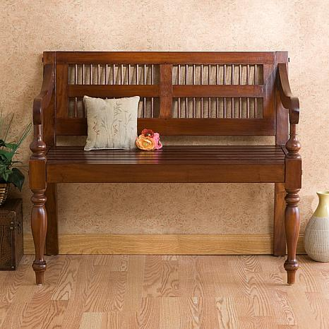 Classic Bench with Mahogany Finish