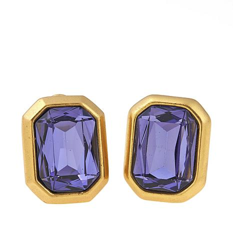 Clb Nyc Concrete Jungle Colored Crystal Earrings