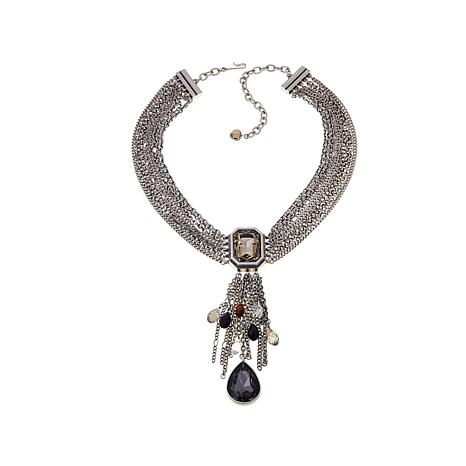"CLB NYC ""Crystal Fountain"" Necklace"