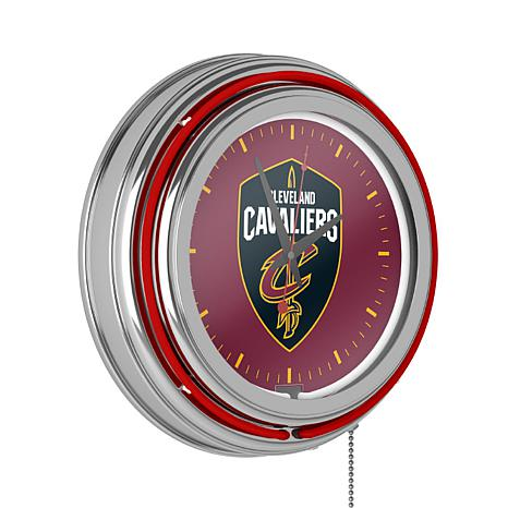 Cleveland Cavaliers Double Ring Neon Clock