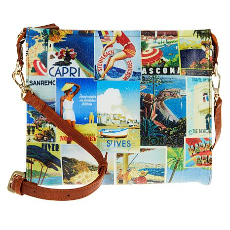Clever Carriage Beach Pouch with Leather Trim
