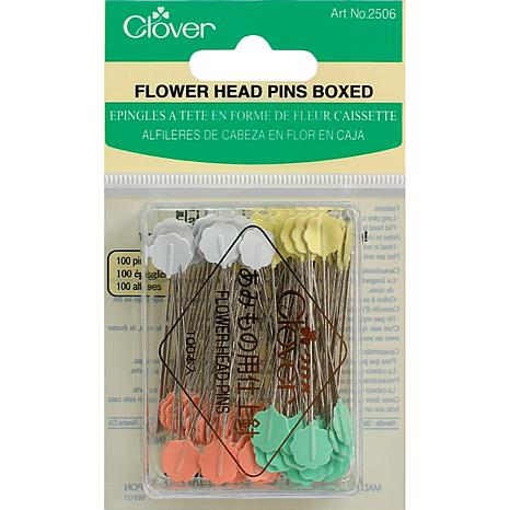 Clover Flower Head Pins - 100-pack