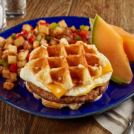 Coach Joe's 8-count Sausage, Egg and Cheese Waffle Stackers