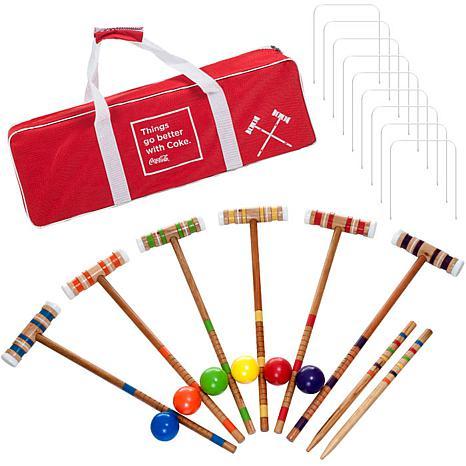 Coca Cola 24-piece 6-Player Croquet Set