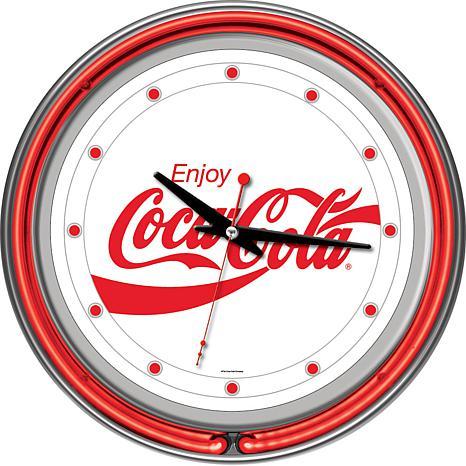 "Coca-Cola ""Enjoy Coke"" White Neon Clock"