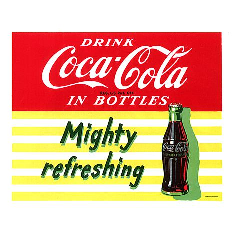 "Coca-Cola ""Mighty Refreshing"" Canvas Art"