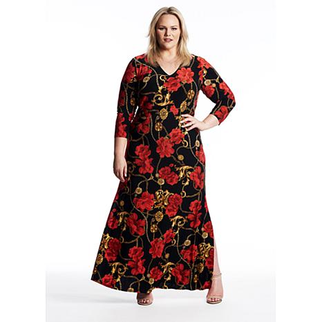 Coldesina Cairo Dress in Red Rose Print