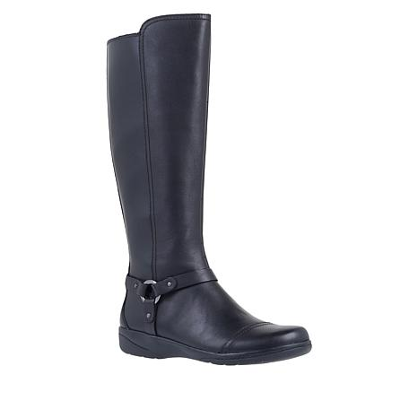 Collection by Clarks Cheyn Lindie Leather Riding Boot - Wide Calf