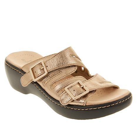 Collection by Clarks Delana Liri Leather Slide  Sandal