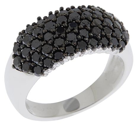 Colleen Lopez 1.50ctw Black Diamond Cluster Band Ring