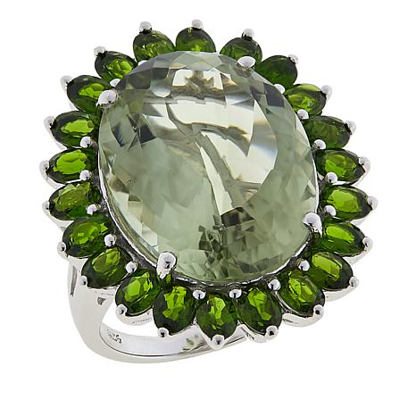 Colleen Lopez 20.6ctw Prasiolite and Chrome Diopside Ring