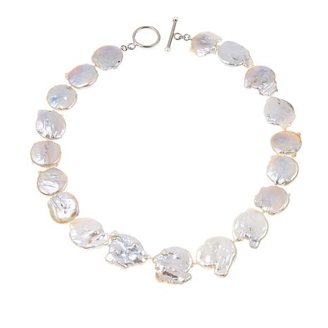 """Colleen Lopez 20mm Cultured Coin Pearl Sterling Silver 20"""" Necklace"""
