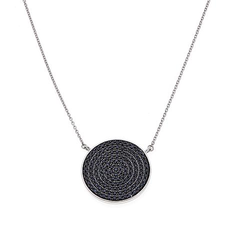 "Colleen Lopez 2.22ctw Black Spinel Round 18"" Necklace"