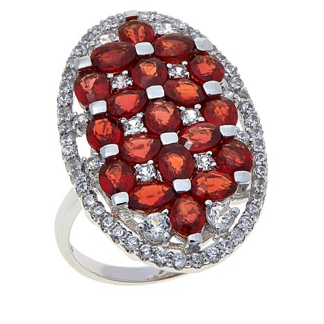 Colleen Lopez 4.6ctw Red Sapphire & White Zircon Ring