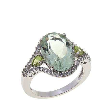 Colleen Lopez 5.05ctw Prasiolite and Peridot Ring