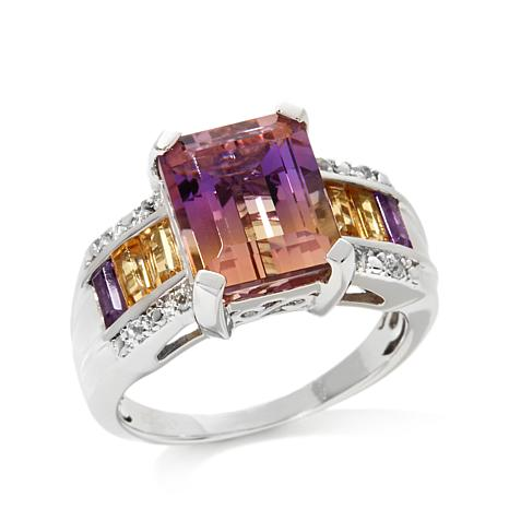 Colleen Lopez 7.11ctw Ametrine and Gem Ring