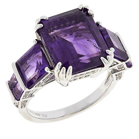 Colleen Lopez African Amethyst and White Zircon Ring