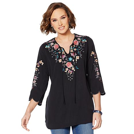 Colleen Lopez Embroidered Tunic