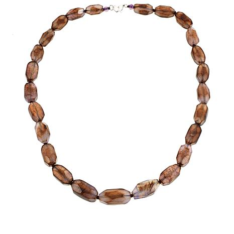 "Colleen Lopez Faceted Agate 24-3/4"" Necklace"