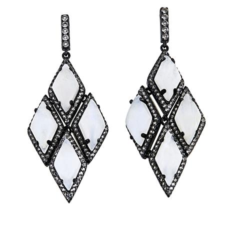 Colleen Lopez Gemstone and White Topaz Drop Earrings