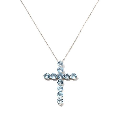 "Colleen Lopez ""Heavenly"" Gemstone Cross Pendant"