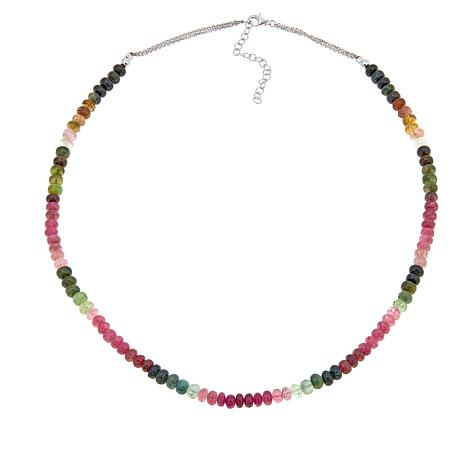 "Colleen Lopez Multicolor Tourmaline Bead 18"" Necklace"