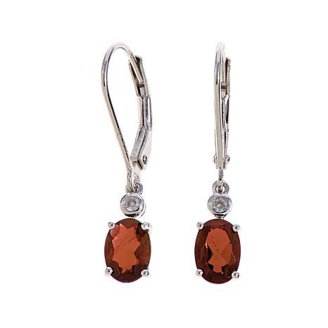 Colleen Lopez Oval Gemstone Drop Earrings