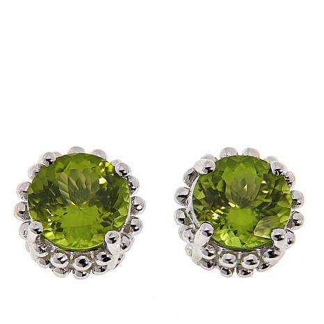 "Colleen Lopez Sterling Silver ""Aurora Star"" Gemstone Stud Earrings"