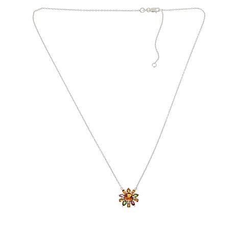 Colleen Lopez Sterling Silver Citrine and Multi Tourmaline Necklace