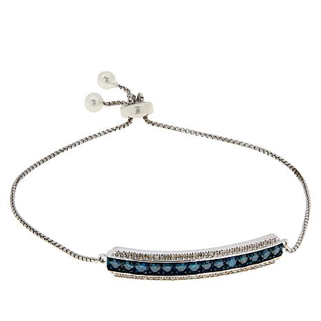 Colleen Lopez Sterling Silver Colored and White Diamond Bracelet