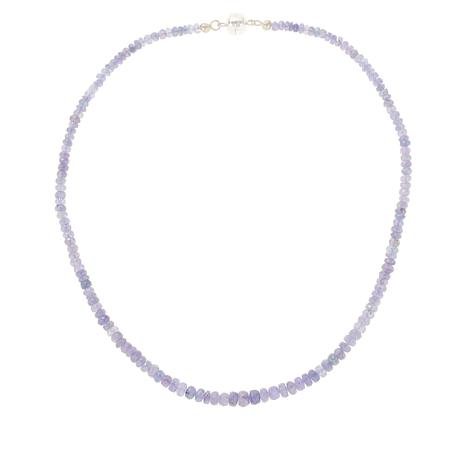 Colleen Lopez Tanzanite Bead Necklace with Magnetic Clasp