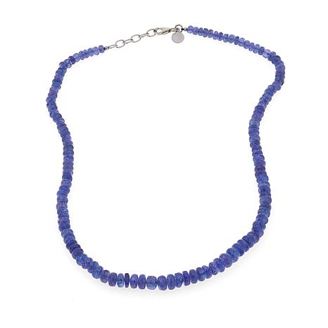 "Colleen Lopez Tanzanite Graduated Bead 18"" Necklace"