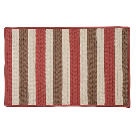 Colonial Mills Stripe It 5' x 8' Rug - Terracotta