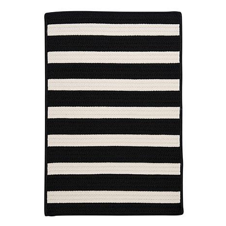 Colonial Mills Stripe It 8' x 11' Rug - Black/White