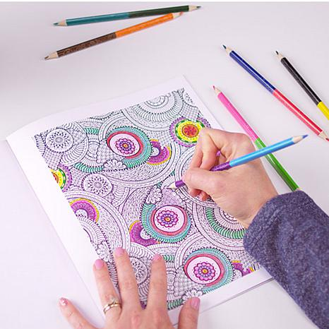 Colorama Coloring Books with 51-piece Coloring Kit - 8132426 | HSN
